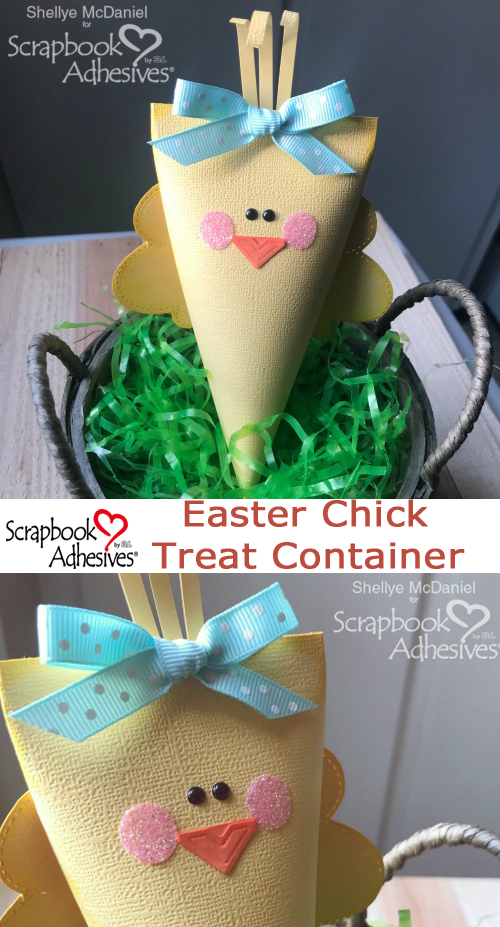Easter Chick Treat Containers by Shellye McDaniel for Scrapbook Adhesives by 3L Pinterest