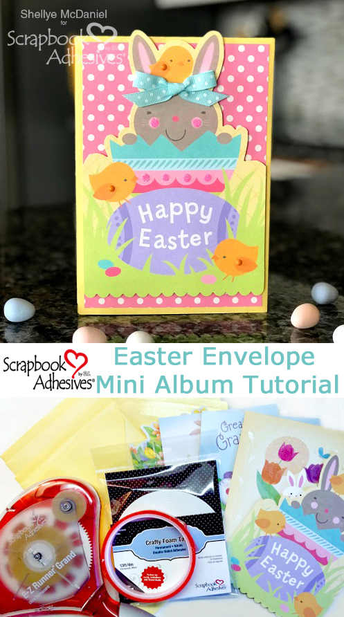 Easter Envelope Mini Scrapbook by Shellye McDaniel for Scrapbook Adhesives by 3L Pinterest