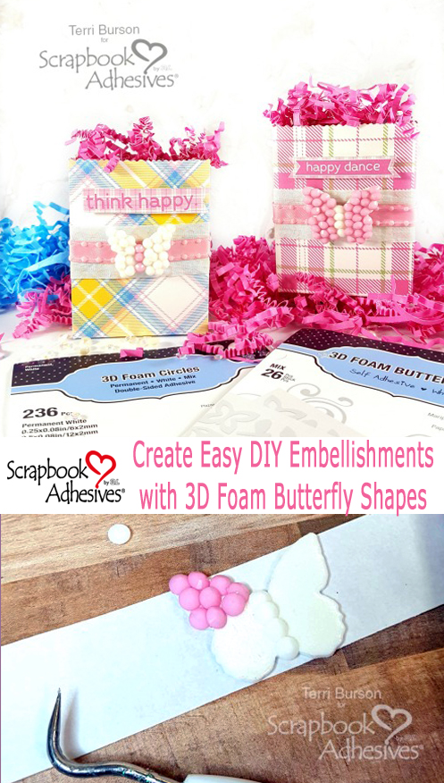 Butterfly Spring Mini Gift Bags by Terri Burson for Scrapbook Adhesives by 3L Pinterest