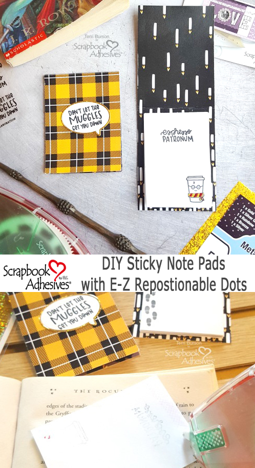 Wizard DIY Sticky Note Pads by Terri Burson for Scrapbook Adhesives by 3L Pinterest