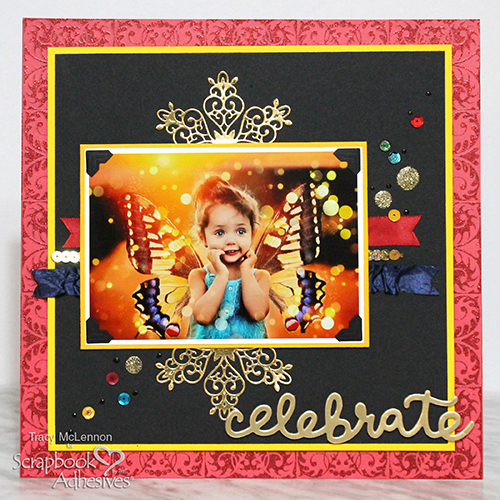 Adding Texture to a Scrapbook Layout by Tracy McLennon for Scrapbook Adhesives by 3L