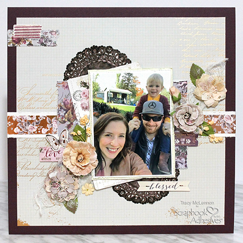 Blessed Scrapbook Layout with Dimension by Tracy McLennon for Scrapbook Adhesives by 3L