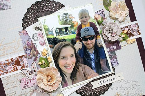 Dimensional Blessed Layout by Tracy McLennon for Scrapbook Adhesives by 3L
