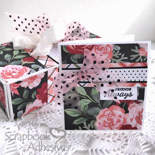A Quick Gift Box and Card Tutorial by Judy Hayes for Scrapbook Adhesives by 3L