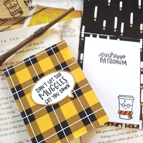 Wizard DIY Sticky Note Pads by Terri Burson for Scrapbook Adhesives by 3L