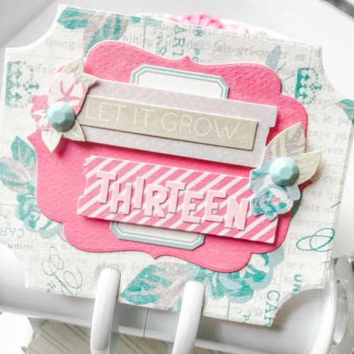Springtime Memory Dex Mini Album by Shellye McDaniel for Scrapbook Adhesives by 3L