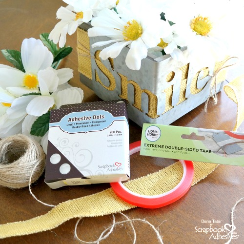 DIY Farmhouse Planter Box by Dana Tatar for Scrapbook Adhesives by 3L