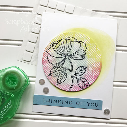 Hello Card with Ink Resist Technique by Teri Anderson for Scrapbook Adhesives by 3L