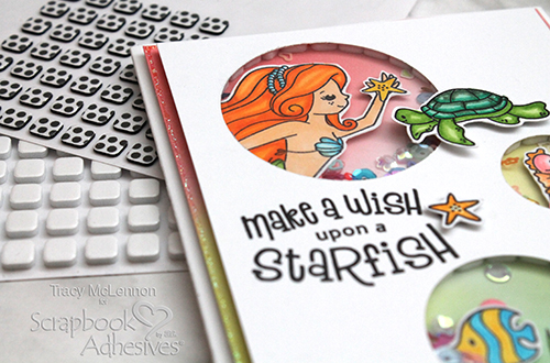 Mermaid Shaker Card Tutorial by Tracy McLennon for Scrapbook Adhesives by 3L