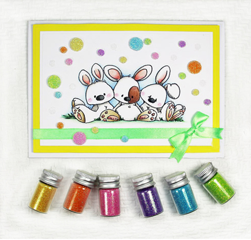 Easter Bunnies Card with 3D Foam Circles by Yvonne van de Grijp for Scrapbook Adhesives by 3L