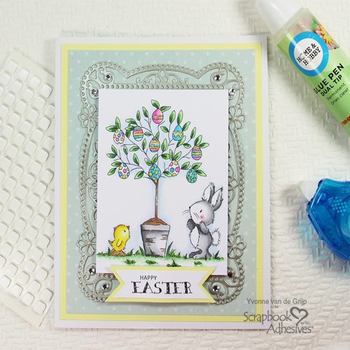 Easter Egg Tree Card with E-Z Runner Petite by Yvonne van de Grijp for Scrapbook Adhesives by 3L