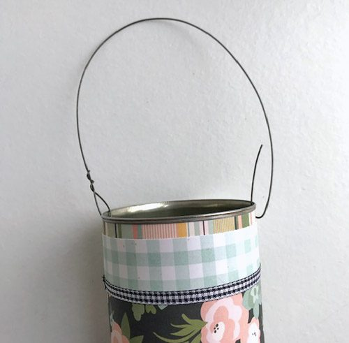 Repurposed Farmhouse Basket by Judy Hayes for Scrapbook Adhesives by 3L