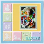 Easter Scrapbook Page by Tracy McLennon for Scrapbook Adhesives by 3L e-book with Favecrafts