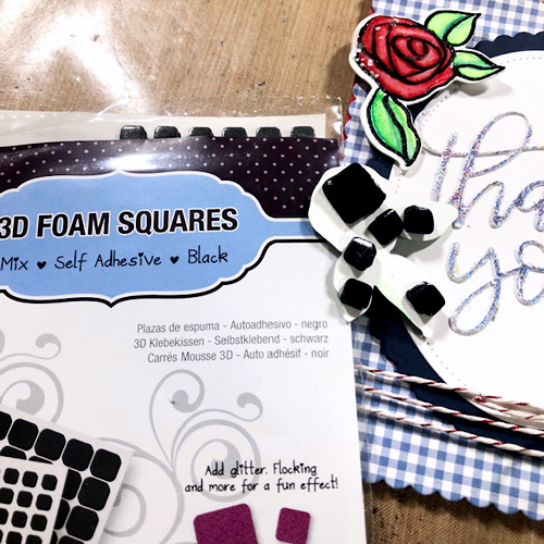 Foiled Thank You Roses Card Tutorial by Lisa Adametz for Scrapbook Adhesives by 3L