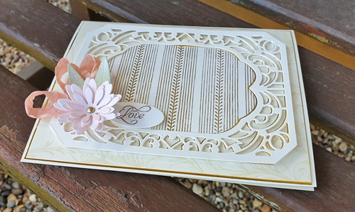 Elegant Ivory and Gold Card Tutorial by Christine Emberson for Scrapbook Adhesives by 3L
