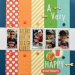 Birthday Scrapbook Page by Christine Meyer for Scrapbook Adhesives by 3L e-book with Favecrafts