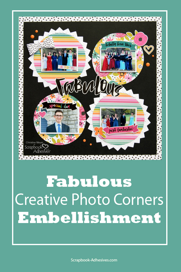Creative Photo Corners for Embellishing by Christine Meyer for Scrapbook Adhesives by 3L Pinterest