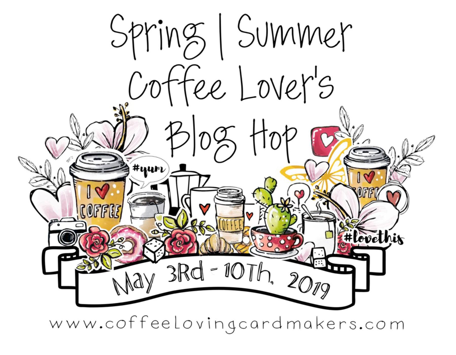 Spring Coffee Lovers Blog Hop Logo 2019