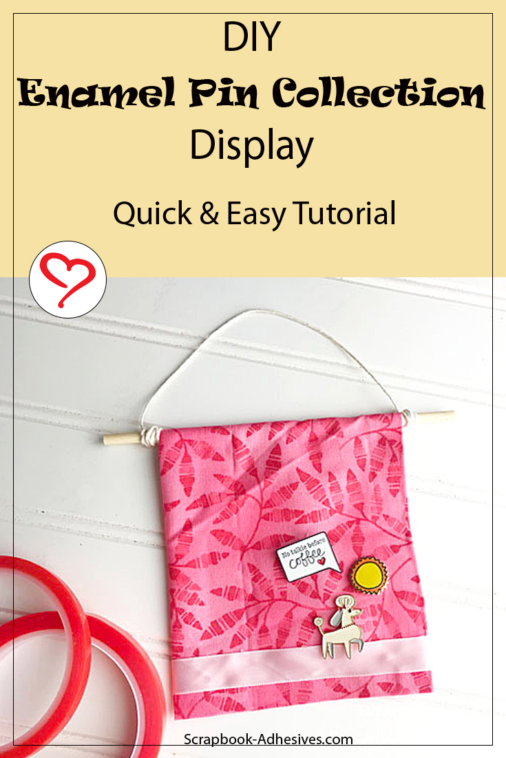 DIY Enamel Pin Collection Display by Teri Anderson for Scrapbook Adhesives by 3L Pinterest