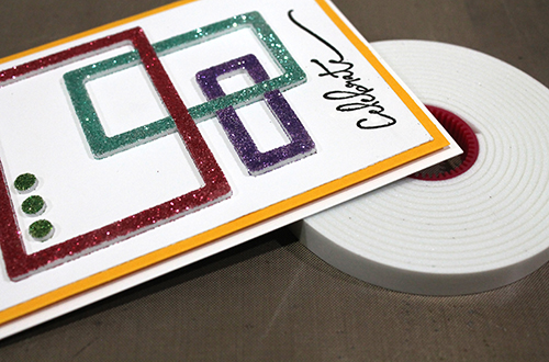 Glitter Frame Card by Tracy McLennon for Scrapbook Adhesives by 3L
