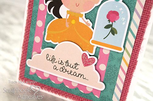 Little Princess Card and Burlap by Tracy McLennon for Scrapbook Adhesives by 3L