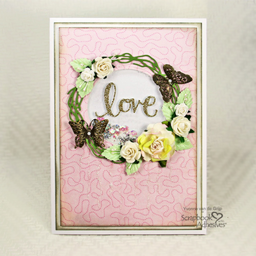 Mother's Day Love Shaker Card by Yvonne van de Grijp for Scrapbook Adhesives by 3L