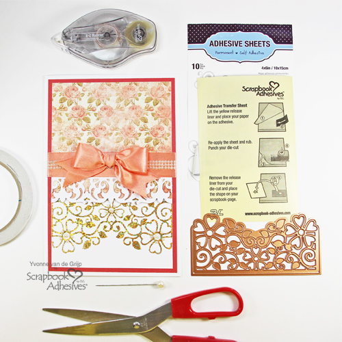 Foiled Flourish Card by Yvonne van de Grijp for Scrapbook Adhesives by 3L
