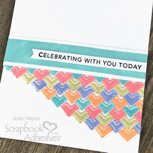 Celebrate Card in Colorful Corners by Judy Hayes for Scrapbook Adhesives by 3L