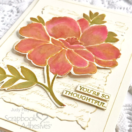 Thoughtful Flower Card by Judy Hayes for Scrapbook Adhesives by 3L