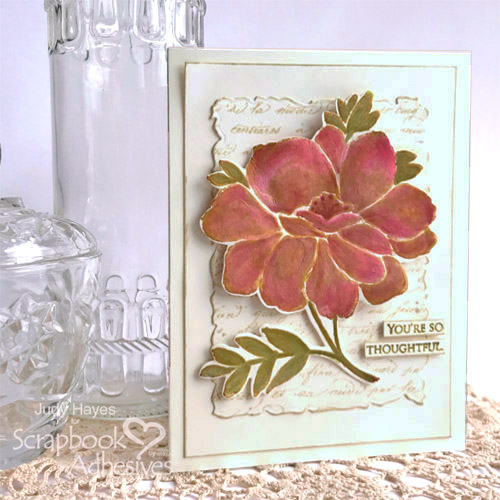 Thoughtful Flower Card with 3D Petals by Judy Hayes for Scrapbook Adhesives by 3L