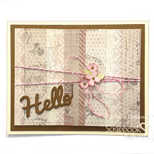 Hello Card - Stash Busting Tutorial by Christine Emberson for Scrapbook Adhesives by 3L