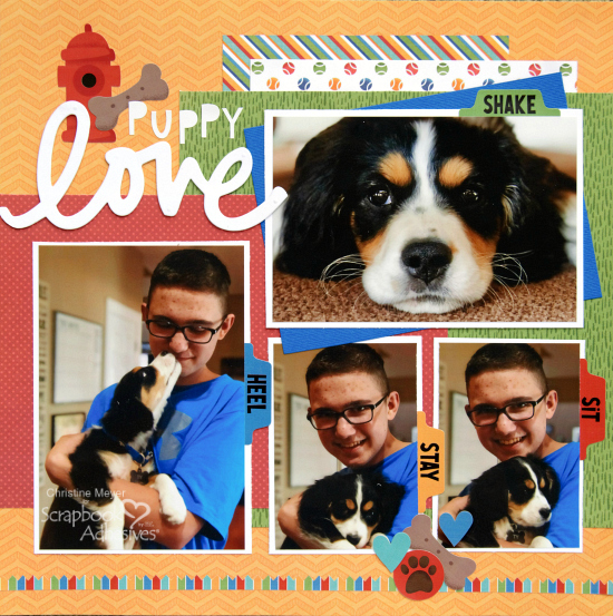 Puppy Love and a 3D Foam Creative Sheet Title by Christine Meyer for Scrapbook Adhesives by 3L