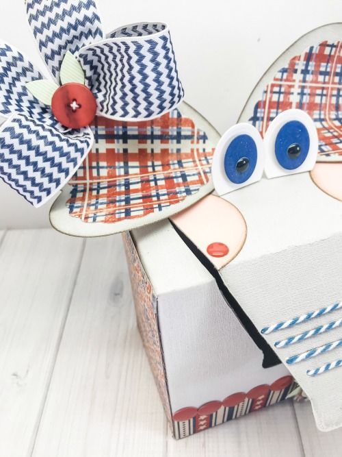 Patriotic Elephant Treat Box Tutorial by Shellye McDaniel for Scrapbook Adhesives by 3L