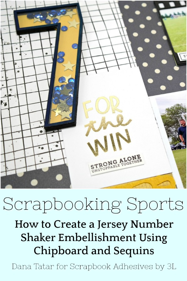 Soccer Themed Sports Scrapbook Layout with Jersey Number Shaker Embellishment by Dana Tatar for Scrapbook Adhesives by 3L Pinterest