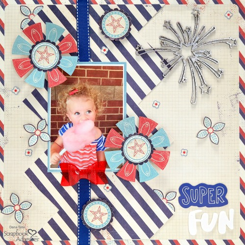 Patriotic Scrapbooking with Holographic Foil by Dana Tatar for Scrapbook Adhesives by 3L