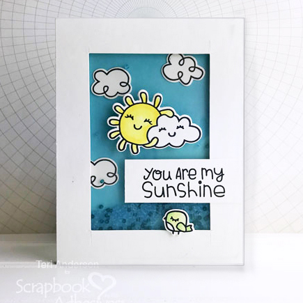 Sunshine Shaker Card by Teri Anderson for Scrapbook Adhesives by 3L