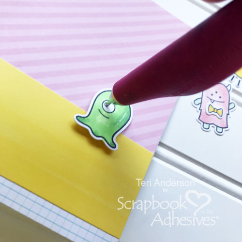 Interactive Monster Card Tutorial by Teri Anderson for Scrapbook Adhesives by 3L