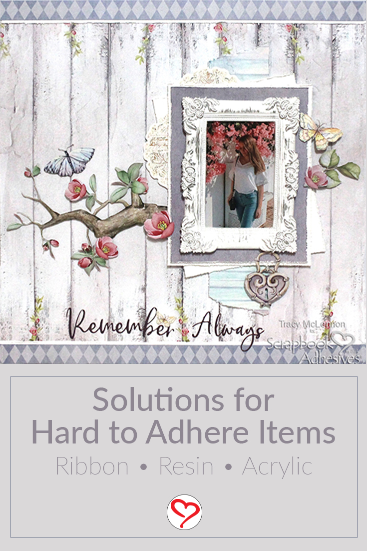 Three Solutions to Tricky Embellishments by Tracy McLennon for Scrapbook Adhesives by 3L Pinterest
