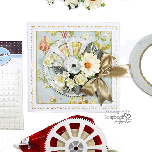Recycled Gear Card Tutorial by Yvonne van de Grijp for Scrapbook Adhesives by 3L