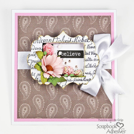How to Make a Shadow Box Card by Yvonne van de Grijp for Scrapbook Adhesives by 3L