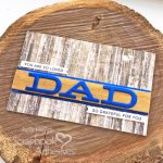 Dad Card with Foil and Wood Tutorial