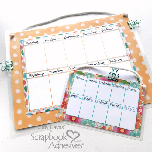 Erasable Calendar by Judy Hayes for Scrapbook Adhesives by 3L