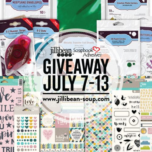 Instagram Giveaway with Jillibean Soup and Scrapbook Adhesives by 3L prizes, July 7-13, 2019