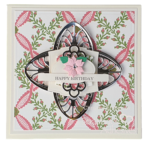 How to layer intricate die cuts on a birthday card by Christine Emberson for Scrapbook Adhesives by 3L
