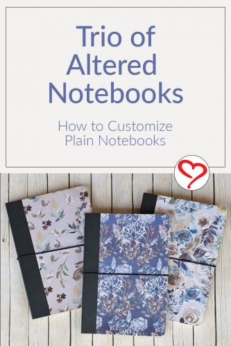 A Trio of Notebooks by Christine Emberson for Scrapbook Adhesives by 3L Pinterest Image