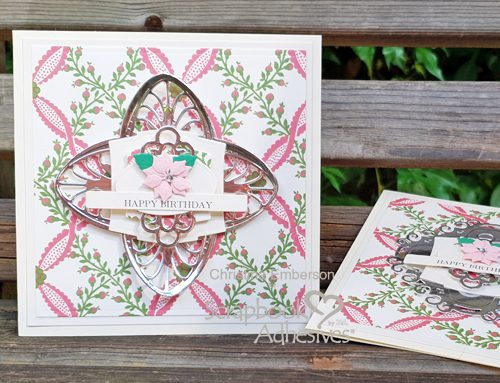 Layered Birthday Card Tutorial by Christine Emberson for Scrapook Adhesives by 3L