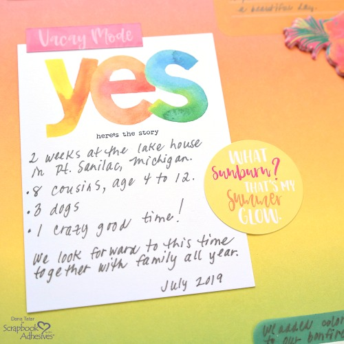 Vacation Scrapbooking with a Rainbow Palette by Dana Tatar for Scrapbook Adhesives by 3L
