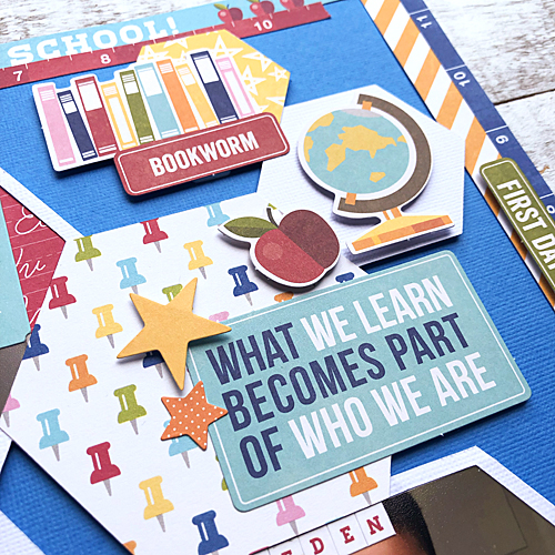First Day of School Scrapbook Tutorial by Latrice Murphy for Scrapbook Adhesives by 3L Close Up 1