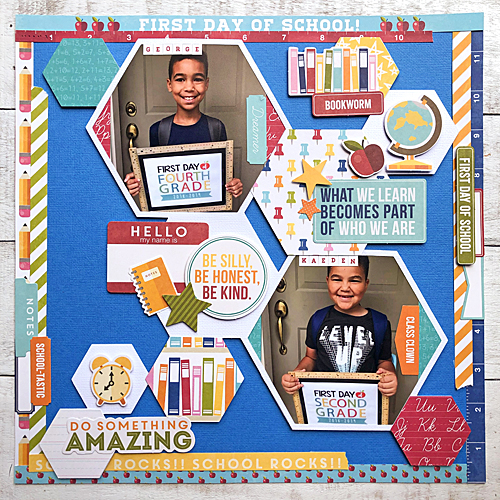 First Day of School Scrapbook Tutorial by Latrice Murphy for Scrapbook Adhesives by 3L