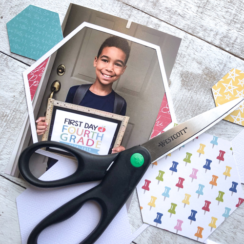 First Day of School Scrapbook Tutorial by Latrice Murphy for Scrapbook Adhesives by 3L Step 7